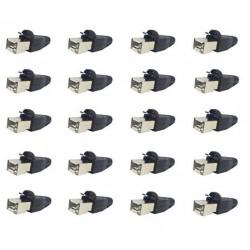RJ45 Plug + Boot - 25 stuks