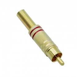 RCA Plug, Rood