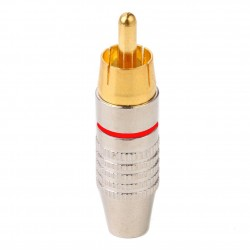 RCA Plug, Metal - Rood