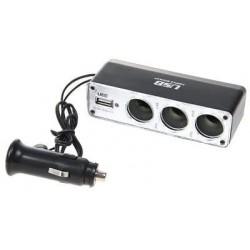 12V - 24V verdeler + USB