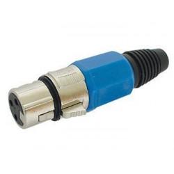 XLR Plug Female - Blue