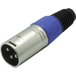XLR Plug Male - Blue