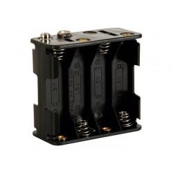 Batterijhouder - 8xAA + 9V